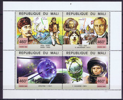Mali Space 1999 Great Events Of The 20th Century. Sputnik 1, Gagarin & Polar Expeditions Of Admundsen & Peary - Mali (1959-...)