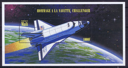 Mali Space 1996 Tribute To Challenger. - Mali (1959-...)