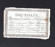 Bordeaux (33 Gironde)   Papillon (ancien Prob XIXe) GOUDAIN Joaillier Bijoutier (rue Ste Cathenine) (PPP30008) - Publicidad