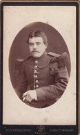 CDV  =   MILITAIR   FOTOGRAAF  HUGO PIRON - LOODTS - PHOTOGR. MARITIMES - QUAI Ste ALDEGONDE 14 ANVERS - 2 SCANS - Antiche (ante 1900)