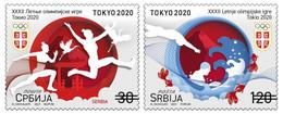 Serbia 2021 XXXII Summer Olympic Games Tokyo 2020 Japan Sports Athletics Swimming, Set MNH - Serbia
