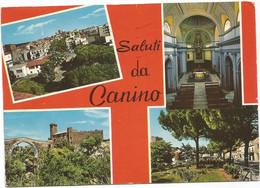 P5409 Saluti Da Canino (Viterbo) - Panorama Vedute Multipla / Viaggiata 1988 - Other Cities