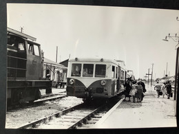 Photographie Originale De J.BAZIN : Train En Gare De BELLEGARDE -QUIERS , Ligne ORLÉANS- MALESHERBES  En 1959 - Trenes