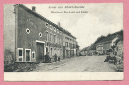 Vogesen - 57 - GRUSS Aus ALBERSCHWEILER - ABRESCHVILLER - Münchener Bier-Lokal Und Kasino - Otros Municipios