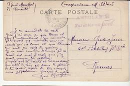 """Carte Parentis En Born, Le Port Avec Cachet """" Ambulance/ Parentis En Born"""" - Covers & Documents"""