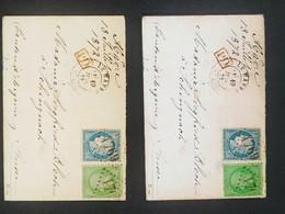 Enveloppe Timbres 35 + 60 Oblitéré  + Type 17 Le Havre ( 19.07.72) Pour La Suisse PD En Rouge  Signé Calves - 1862 Napoleon III