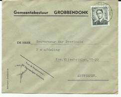 "D274 : Brief Met Afstempeling "" Grobbendonk C-C "" - Ohne Zuordnung"