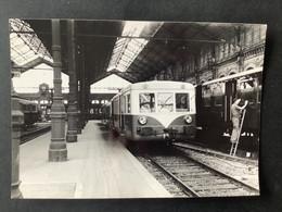 Photographie Originale De J.BAZIN : Train à L'ancienne Gare D'ORLEANS , Ligne ORLEANS - MALESHERBES  En 1959 - Trenes