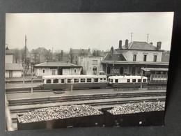 Photographie Originale De J.BAZIN : Train En Gare De PITHIVIERS, Ligne  ORLEANS- MALESHERBES En 1958 - Trenes