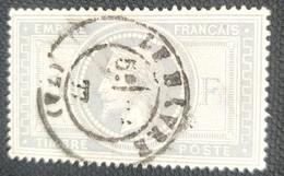 "FRANCE STAMP TIMBRE 33 "" NAPOLEON III 5F CACHET LE HAVRE Amincie, Dentelure Réguliere Aspect Superbe / # 01 - 1862 Napoleon III"