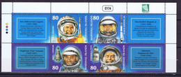 Marshall Islands Space 2001 40th Anniversary Of Manned Spaceflight. Gagarin, Shepard, Grissom, Titov Stamps And Labels - Marshall Islands