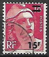 FRANCE    -    1954 .  Y&T N° 968 Oblitéré.  Surchargé - Usati