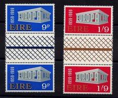 Europa CEPT 1969 Irlande - Ireland - Irland Y&T N°232 à 233 - Michel N°ZW230 à ZW231 *** - Interpanneau - 1969