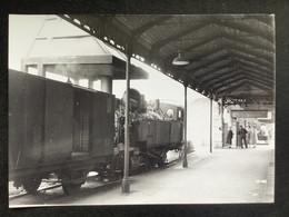 Photographie Originale De J.BAZIN : Train En Gare De ENGHIEN Les BAINS , Ligne ENGHIEN- MONTMORENCY En 1954 - Trains