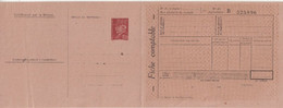 """FRANCE : ENTIER POSTAL . 1F20 . TYPE PETAIN . CPS . """" CHEQUES POINTS TEXTILES """" . SANS MAXIMUM . ( FROISSURE ) . 1944 . - Standard Postcards & Stamped On Demand (before 1995)"""