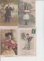 FANTAISIES  -  1ER AVRIL  -  LOT DE 40 CARTES  - - 5 - 99 Postcards