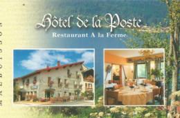 F122 / Publicitaire / Advertising Business Card CARTE De VISITE MALBUISSON (25 ) HOTEL De La POSTE Restaurant - Altri Comuni