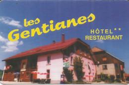 F122 / Publicitaire / Advertising Business Card CARTE De VISITE  ROCHEJEAN (25) LES GENTIANES Restaurant HOTEL - Altri Comuni