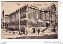 REF12.110  AISNE. SAINT QUENTIN.  LES HALLES COTE NORD-OUEST ( DISPARUES EN 1950 ) - Halles
