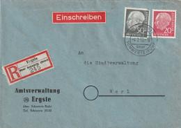 R - Brief Bund Ergste über Schwerte Vom 4.2.1955 - Gebruikt