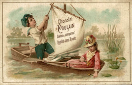 CHROMO CHOCOLAT POULAIN CANOTAGE - Poulain
