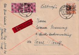Schöner Eilboten Brief Von Gütersloh 6.7.1948 - Amerikaanse, Britse-en Russische Zone