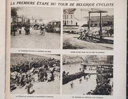 1921 CYCLISME - LA PREMIERE ÉTAPE DU TOUR DE BELGIQUE - MONS - PONT DE MAUBRAY - COURTRAI - OSTENDE - GAND - 1900 - 1949