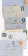 EC-401: FRANCE: Lot Avec 6 Lettres Ou Devants Avec N°13A-14A(3)-14B-16 - Unclassified