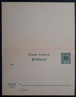 DR Ganzsache P31a Druckvermerk 1094f, Doppelkarte, Ungebraucht (1055) - Stamped Stationery