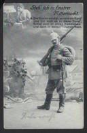 """GERMAN SOLDIER *WWI * STEH ICH IN FINSTER MITTERNACHT """" * FELDPOST * COLN * 1915 * 2 SCANS - Oorlog 1914-18"""