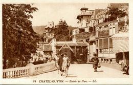 CPA - CHATEL-GUYON - ENTREE DU PARC - Châtel-Guyon