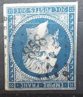 Empire No 14 A Obl Pc 858 De CHORGES , Hautes Alpes, 'indice 17, Belle Frappe TB - 1853-1860 Napoléon III