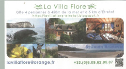 F122 / Publicitaire / Advertising Business Card CARTE De VISITE SAINT JOUIN BRUNEVAL (76) LA VILLA FLORE - Etretat