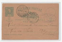 Bilhete Postal 1897 De Alenquer Para A Real Fabrica De Louça De Sacavem Rua Da Prata Lisboa - Covers & Documents