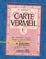 Carte Ancienne Vermeil N° 6611 - Avril 1971 - 1ere Classe - SNCF / Chemin De Fer / Train / Abonnement - Unclassified