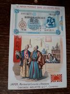 L37/73 CHROMO CHICOREE ARLATTE . LE PAPIER MONNAIE DANS LES DIVERS PAYS . JAPON - Tea & Coffee Manufacturers