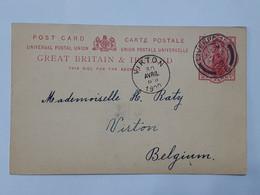 Post Card Great Britain & Ireland - Envoyé De Formby Liverpool Vers Virton Le 28 Avril 1900  ... Lot420 . - Luftpost & Aerogramme