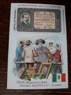 L37/75 CHROMO CHICOREE ARLATTE . LE PAPIER MONNAIE DANS LES DIVERS PAYS . ITALIE - Tea & Coffee Manufacturers