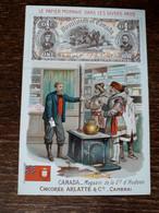 L37/76 CHROMO CHICOREE ARLATTE . LE PAPIER MONNAIE DANS LES DIVERS PAYS . CANADA - Tea & Coffee Manufacturers