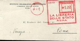 65117 Italia, Red Meter Freistempel Ema, 1946 Roma La Libreria Dello Stato - Machine Stamps (ATM)