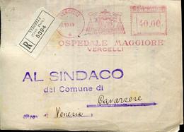 65118 Italia, Red Meter Freistempel Ema, 1949 Vercelli Ospedale Maggiore - Machine Stamps (ATM)