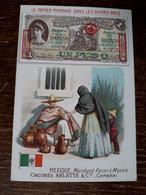 L37/78 CHROMO CHICOREE ARLATTE . LE PAPIER MONNAIE DANS LES DIVERS PAYS . MEXIQUE - Tea & Coffee Manufacturers