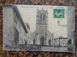 ESSERTINES EN DONZY 1913 - PLACE DE L'EGLISE - Sonstige Gemeinden