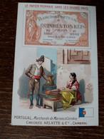 L37/81 CHROMO CHICOREE ARLATTE . LE PAPIER MONNAIE DANS LES DIVERS PAYS . PORTUGAL - Tea & Coffee Manufacturers