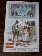 L37/82 CHROMO CHICOREE ARLATTE . LE PAPIER MONNAIE DANS LES DIVERS PAYS . AUTRICHE - HONGRIE - Tea & Coffee Manufacturers
