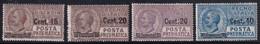Regno D'Italia Posta Pneumatica 1924 Serie Completa Sass. 4/7 MH* Cv 48 - Neufs
