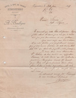 87 EYMOUTIERS A. BOULEGUE HOTEL & CAFE DE FRANCE (1899) - 1800 – 1899
