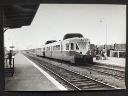 Photographie Originale De J.BAZIN :Les Autorails Aciéries Du Nord ( ADN) Réseau Nord SNCF En Gare De CHAULNES  En 1967 - Trains
