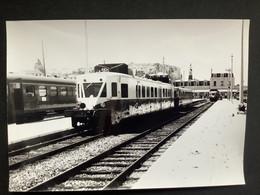 Photographie Originale De J.BAZIN : Les Autorails Aciéries Du NORD (ADN) Réseau NORD SNCF Gare Le TREPORT - MERS En 1959 - Trains