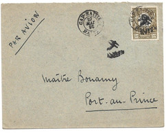 (C01) - HAITI - LOCAL AIR MAIL COVER   CAP HAITIEN => PORT AU PRINCE 1926 - Haiti